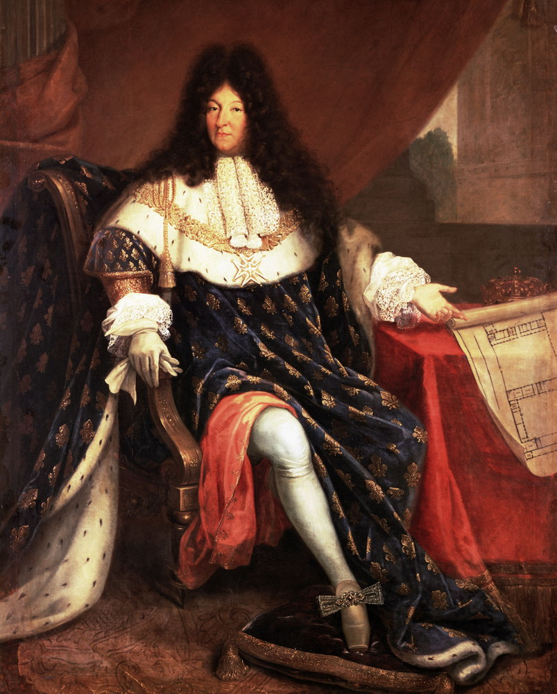 Louis XIV With Plans for Versailles